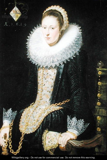 Portrait of a Lady of the Pelgrom Family, 1619 - Cornelis De Vos