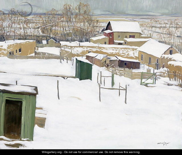 Taos in the Snow, c.1914-20 - Walter Ufer