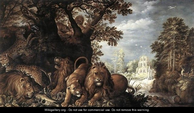 Landscape with Wild Animals - Roelandt Jacobsz Savery