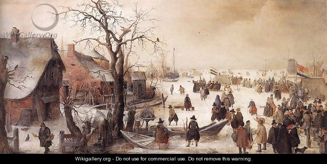 Winter Scene On A Canal - Hendrick Avercamp