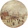 Winter Landscape With Skaters - Hendrick Avercamp