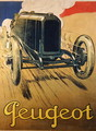 Poster advertising a Peugeot Racing Car, c.1918 - Rene Vincent