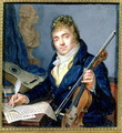 Portrait of a Composer, with his Violin and Score - Francois Elie Vincent