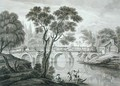 Design for a Ruinous Bridge for the Garden at Syon House, published 1778 - Francois Vivares