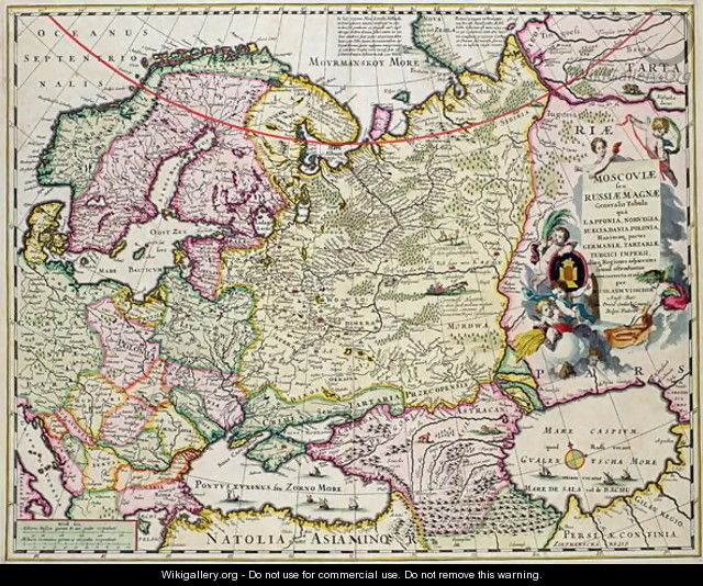 Map of Asia Minor showing Norway, Sweden, Denmark, Lapland, Poland ...