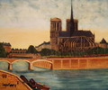 Notre-Dame view of the apse c.1933 - Louis Vivin