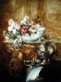Still Life of a Bowl of Flowers - Antoine Vollon
