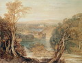 The River Wharfe with a distant view of Barden Tower - Joseph Mallord William Turner