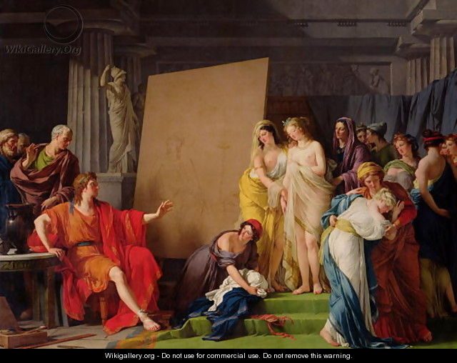 Zeuxis Choosing Models from the Beautiful Women of Croton, 1789 - Francois-Andre Vincent