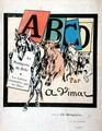 Front cover of the childrens alphabet, La Menagerie de Bebe, Les Lettres enseignees par les Betes, c.1910 - A. Vimar