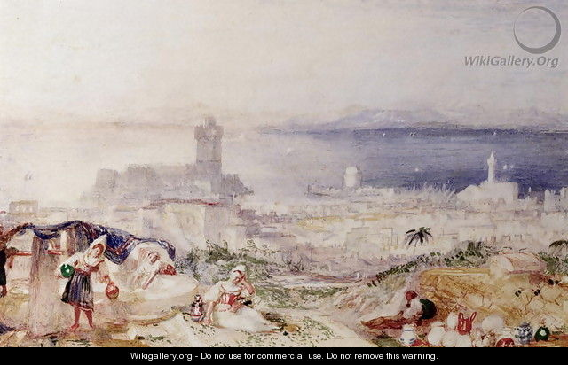 View of Rhodes - Joseph Mallord William Turner
