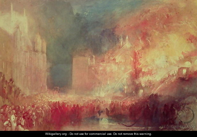 The Burning of the Houses of Parliament, 16th October 1834, 1839 - Joseph Mallord William Turner