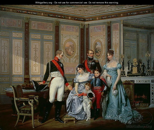 The Empress Josephine 1763-1814 Presenting her Children to the Emperor Alexander at Malmaison - Jean Louis Victor Viger du Vigneau
