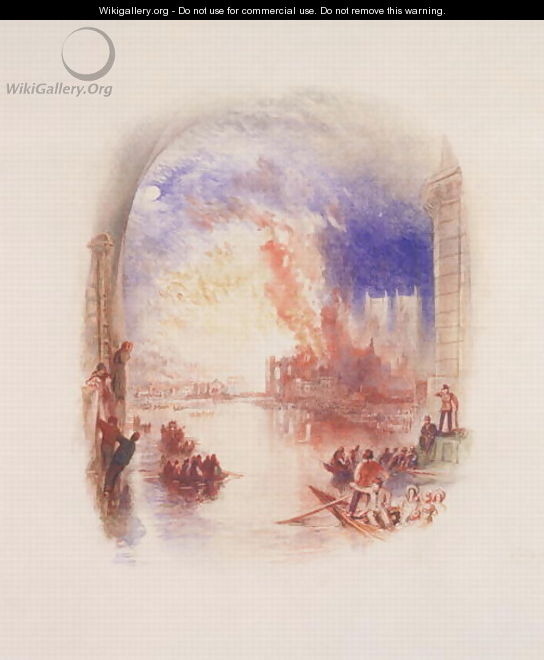 The Burning of the Houses of Parliament 2 - Joseph Mallord William Turner
