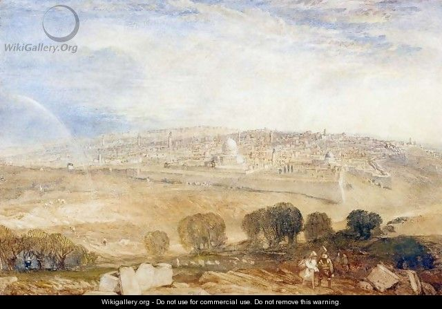 Jerusalem from the Mount of Olives, c.1835 - Joseph Mallord William Turner
