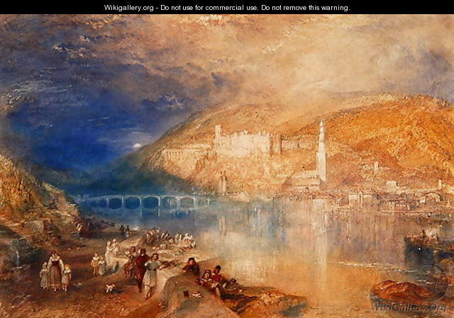 Heidelberg: Sunset, c.1840-42 - Joseph Mallord William Turner