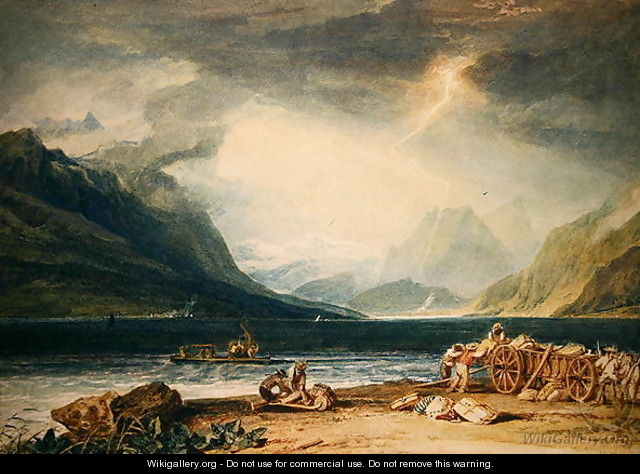 Lake Thun - Joseph Mallord William Turner