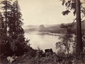 Beacon Rock, Columbia River, USA, 1867 - Carleton Emmons Watkins