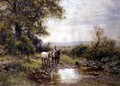 Horses by a Stream - Ernest Albert Waterlow