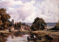 On the Medway, Aylesford, Kent - Frederick Waters Watts