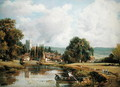 Aylesford, Kent, from the River Medway - Frederick Waters Watts