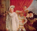Actors of the Comedie Italienne - (after) Watteau, Jean Antoine