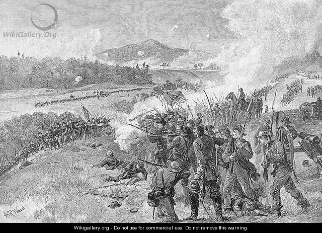 The Battle of Resaca, Georgia, May 14th 1864, illustration from Battles and Leaders of the Civil War, edited by Robert Underwood Johnson and Clarence Clough Buel - Alfred R. Waud