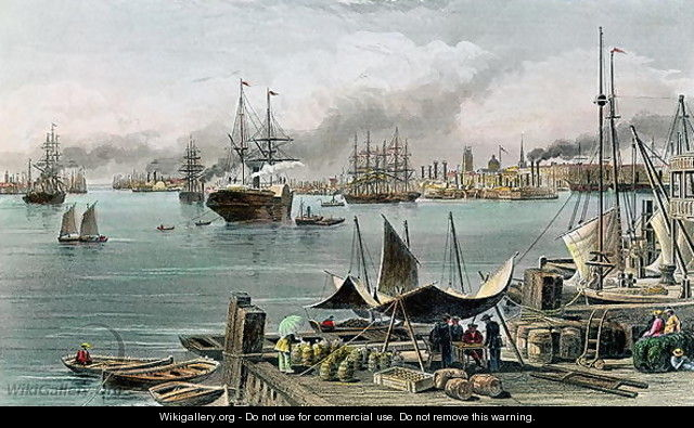 Port of New Orleans, engraved by D.G. Thompson - Alfred R. Waud