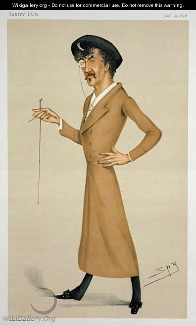 A Symphony, cartoon from of Sir James Abbott McNeill Whistler (1834-1903) from Vanity Fair, January 12, 1878 - Leslie Mathew Ward