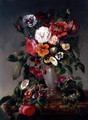 Still Life of Various Flowers in an Urn - James Charles Ward
