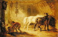 Interior of a Stable, c.1830-40 - James Ward