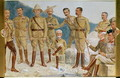 Cartoon of British leaders in the Boer War, Field Marshal Sir Frederick Sleigh Roberts (1832-1914) With His Boot on a Portrait of Paul Kruger (1825-1924) Cartoon of British leaders in the Boer War - Leslie Mathew Ward