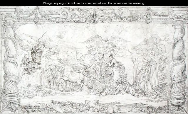 Design for The Waterloo Allegory, c.1815-22 - James Ward