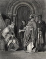 Henry II presenting the Pope's Bull to the Archbishop of Cashel, engraved by G. Greatbach - Henry Warren