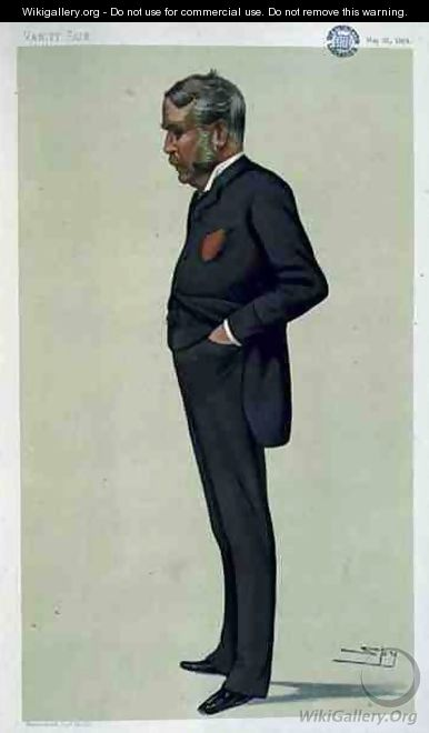 Patience, a Spy caricature of William Schwenck Gilbert (1836-1911) from Vanity Fair, 21st May 1881 - Leslie Mathew Ward