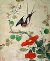 One of a series of paintings of birds and fruit, late 19th century 3 - Guoche Wang