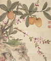 One of a series of paintings of birds and fruit, late 19th century 2 - Guoche Wang