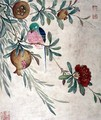 One of a series of paintings of birds and fruit, late 19th century - Guoche Wang
