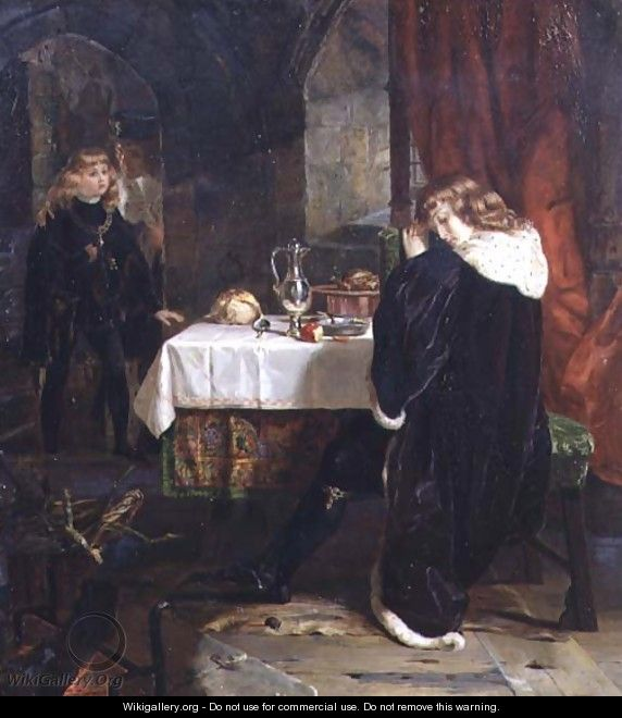 The Princes in the Tower, 1861 - Henrietta Mary Ward