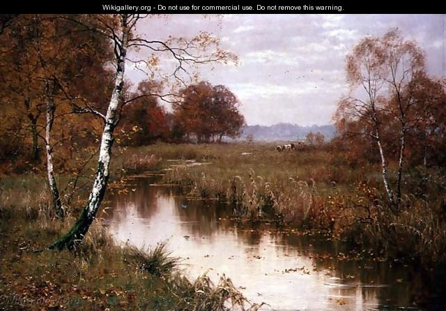 Autumn Haunts of the Kingfisher, 1917 - Edward Wilkins Waite