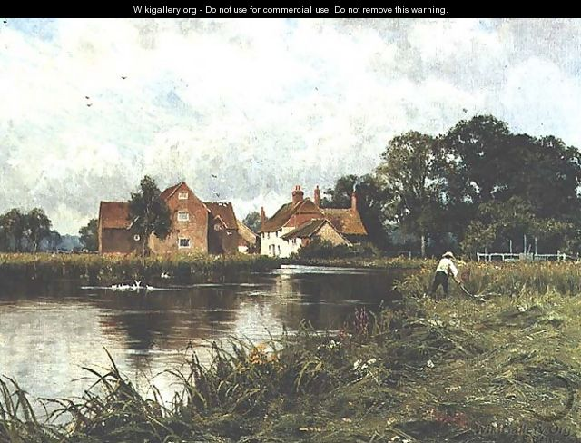 Padworth Mill on the River Kennet - Edward Wilkins Waite