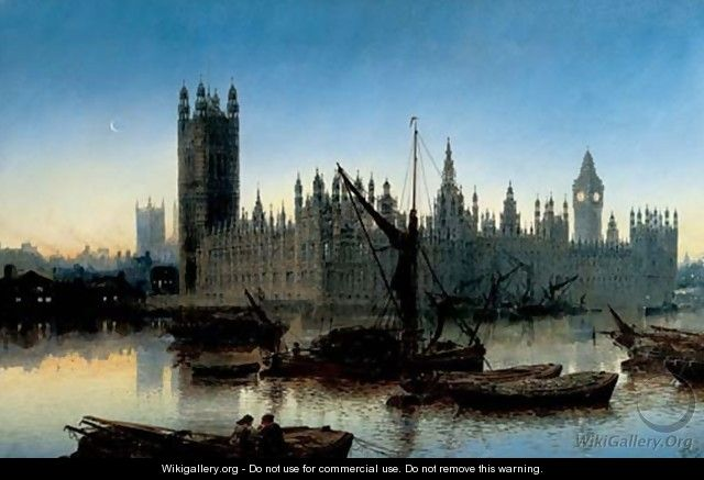 Houses of Parliament, Westminster, 1877 - Claude T. Stanfield Moore
