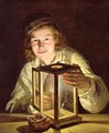 The Young Stableboy with a Stable Lamp, 1824 - Ferdinand Georg Waldmuller