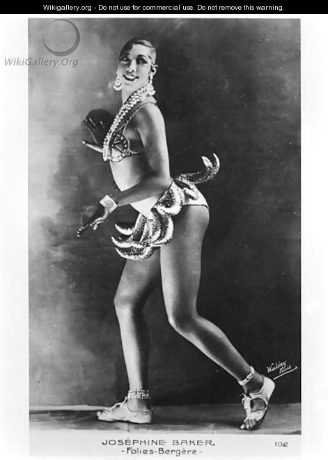 Josephine Baker (1906-75) at the Folies Bergere - Stanislaus Walery
