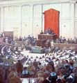 The only session of the All-Russian Constituent Assembly held in Petrograd on 18th January 1918 - Boris Zvorykine
