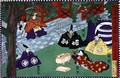 Scene from the 1st act of a kabuki play, 'Kanadehon Chushingura', a tale of revenge based on the forty seven ronin incident of 1703, c.1870 - Utagawa Yoshitora