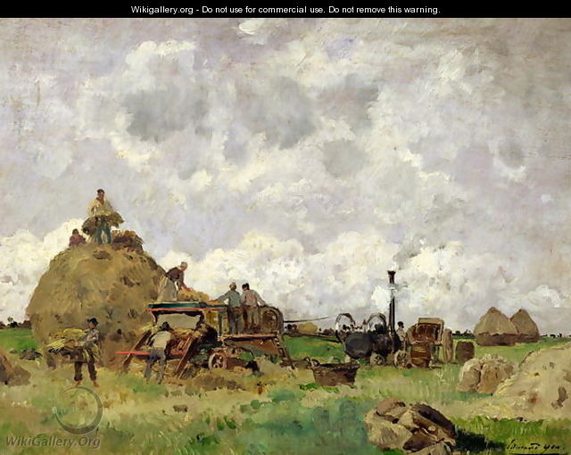 The Threshing Machine - Edmond Charles Joseph Yon