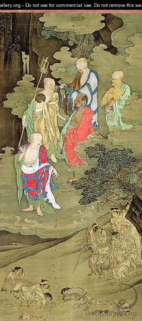 Lohans Bestowing Alms on Suffering Human Beings, Southern Song dynasty, China, c.1178 - Jichang Zhou (or Chou Chi-Ch
