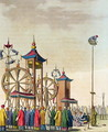 A Chinese circus, illustration from Le Costume Ancien et Moderne by Giulio Ferrario, published c.1820s-30s - Gaetano Zancon