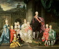 Leopold I, Grand-duke of Tuscany (1747-92) (later Leopold II, Emperor of Austria, 1790-92) with his wife Maria Ludovica and their children including Franz (later Emperor Franz II), 1776 45 Leopold II of Austria (1747-92) with his wife Maria Ludovica an - Johann Zoffany
